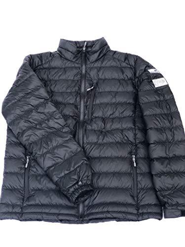 Moss Brown & Co. White Goose Down Ultralight Jacket Men's - Matte Black -X - Large