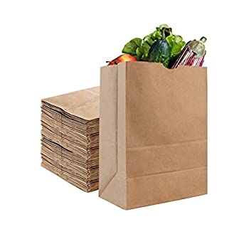 Stock Your Home 52 Lb Kraft Brown Paper Bags  50 Count  - Kraft Brown Paper Grocery Bags Bulk - Large Paper Bags for Grocery Shopping