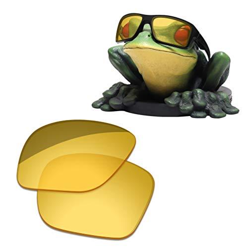 Acefrog Lenti di ricambio polarizzate rivestite AR spessore 1,4 mm per occhiali da sole Oakley Double Edge OO9380 Hd giallo - 1,8 mm di spessore Taglia unica