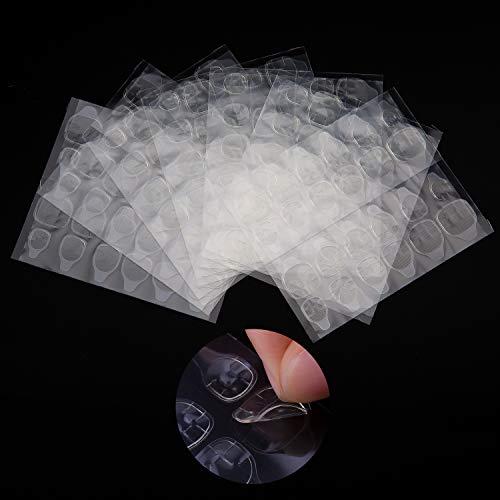 SAVITA 25 Hojas / 600 Piezas Adhesivo de Pegamento Para Uñas, Adhesivo de Gelatina Impermeable y Transpirable Adhesivo para uñas Postizas