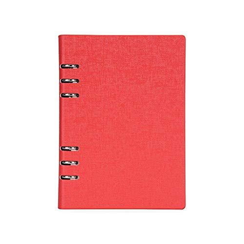unknows Cuaderno Marginf , A5 / A6 PU Cuaderno Bloc de Notas Diario de Hojas Sueltas Planificador de Diario de Negocios Agenda Organizador Carpeta de Notas 6 Agujeros