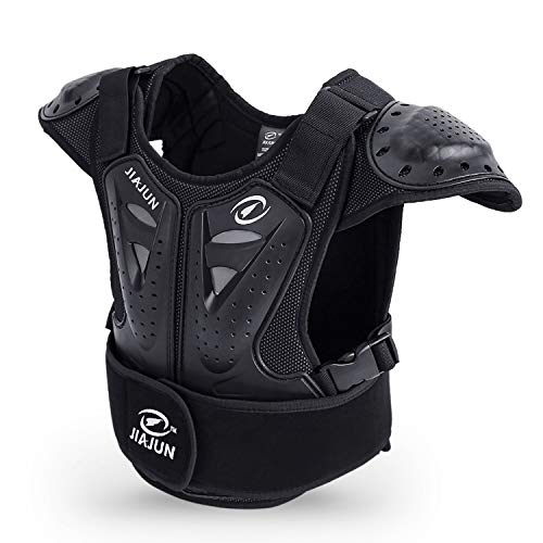 """Seahouse Kids Dirt Chest Spine Protector Body Protective Vest Gear for Bike Motocross Snowboarding Skiing+1pc Random bandana (L for height 51""""-57"""")"""