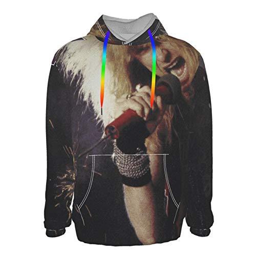 Euochengqus Kix Midnite Dynamite Men's 3D Druck Hoodie Kapuzenpullover Langarm Pullover Sweatshirt L