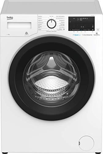 Beko WMY81466ST Waschmaschine/ Bluetooth/ ProSmart Inverter Motor - mit 10 Jahren Motorgarantie/ Dampffunktion/ Nachlegefunktion/ Watersafe+/ sogar 30 % sparsamer als A+++
