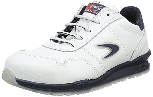 Cofra Sicherheitsschuhe Nuvolari Running S3 SRC sportliche Halbschuhe, weißes Leder, Größe 39, 40-78500004-39