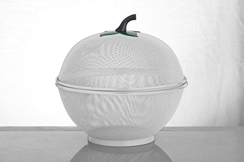Uniware 2203 Apple Net Fruit Basket with plastic Coating, 10.5 Inch, Silver