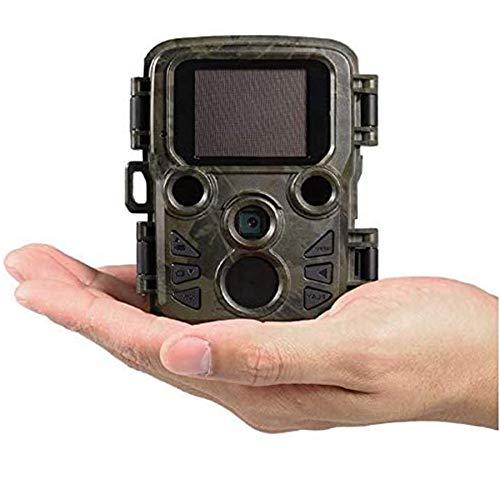 KAUTO Cámara de caza IP66, 12 MP 1080P HD, impermeable, gran angular de 105°, cámara infrarroja invisible, trampa 40 LED infrarrojos, cámara de caza de visión nocturna en miniatura