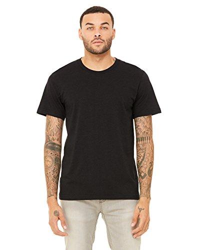 Bella + Canvas Mens 3.4 oz. Triblend T-Shirt (3413C) blk HTHR triblnd l