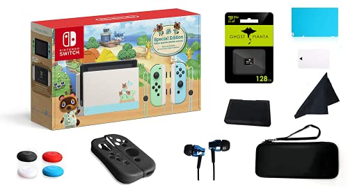 """Nintendo Switch 32GB Console Video Games Neon Red and Blue Joy-Con, 6.2"""" Touchscreen Display, 802.11ac WiFi, HDMI Surround Sound, IR Motion Camera"""