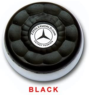 ZieglerWorld Table Large Shuffleboard Puck Weights - 4 Pucks - Black Colors + Booklet