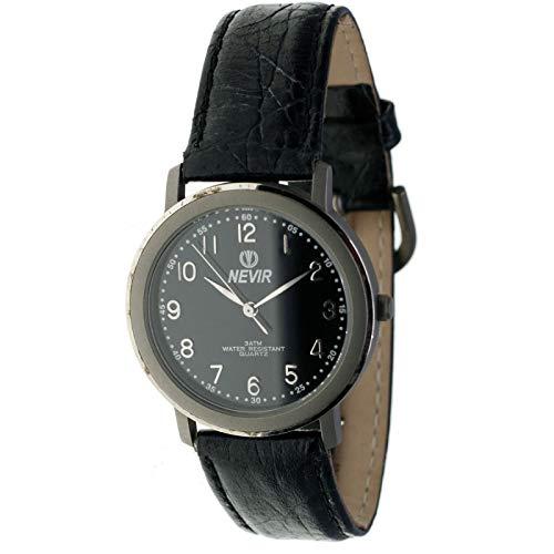 Nevir Mod. 07182 - Reloj de Titanio analógico de Cuarzo Unisex (Mujer/homre/cadete). Diámetro Caja: 34 mm