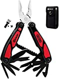 Bibury Multitool, 14 in 1 Multitools Pliers with Can Opener, Scissors, Light, Pocket