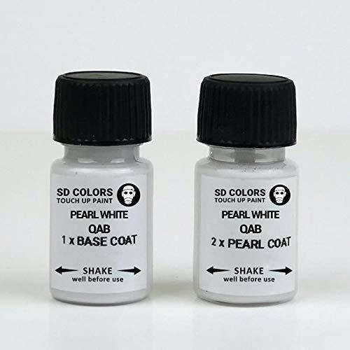 SD COLORS - Kit di riparazione per ritocchi bianco perla, 8 ml, colore bianco perla QAB