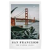 artboxONE Poster 30x20 cm Städte/San Francisco Golden San