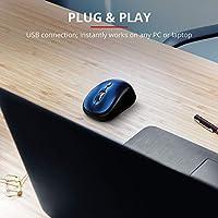 Trust Yvi Mouse Wireless, Mause Senza Filo, 800/1600 DPI, 8m di Portata Wireless, Microricevitore USB Riponibile, PC/Laptop/Mac/Chromebook - Blu #1