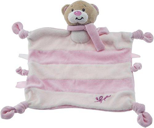Bieco Schmusetuch Bär Petrilla ab 0m+, ca. 32x33,5 cm / Schnuffeltuch / Schmusetuch Baby / Kuscheltier Baby / Schnuffeltuch Baby Junge & Mädchen / Baby Schmusetuch / Kuscheltuch Baby / Babyspielzeug