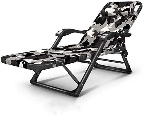 Silla del ocio tumbona con sillas reclinables almohadas silla de jardín plegable puede poner completamente ajustable tumbonas reclinable silla de salón de la playa Patio (Tamaño del color verde con el