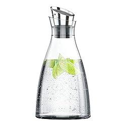 EMSA 505219 Kühlkaraffe FLOW Karaffe Glas/Edelstahl, 1,00 Liter (4 Std. kühl, spülmaschinenfest, integriertes Kühlelement) im Test