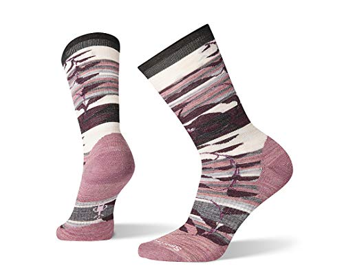 Smartwool Pressure Free Crew Sock - Women's Non-Binding, Palm Print, Ultra Light Cushioned Merino Wool Performance Sock