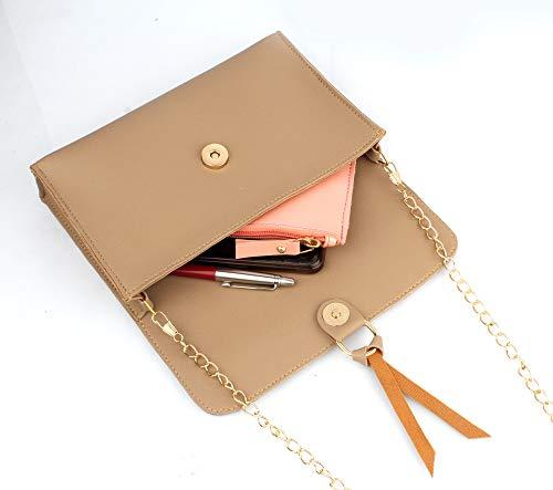 Mammon Women's Handbags Combo (Set of 3) (Cream)