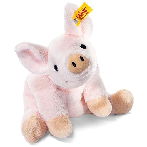 Steiff Sissi Schwein - 16 cm - Floppy Schweinchen - Kuscheltier für Kinder - Plüsch Ferkel - weich & waschbar - rosa (281266)