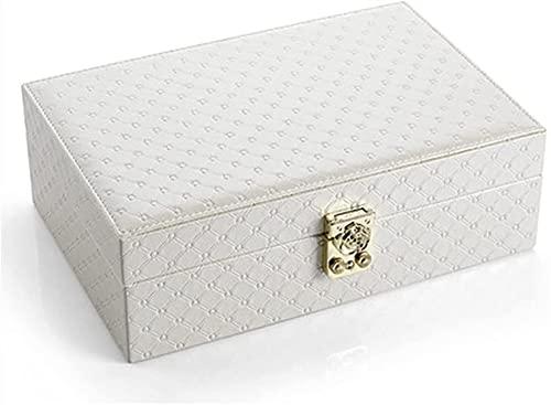 ZHANGCHI Caja de joyería para mujeres y niñas, estuche de viaje para collar y pendientes, organizador de cajas de joyería