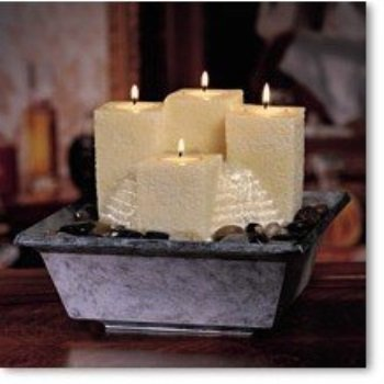 HoMedics WF-CAN21 Candle Fountain with Large Staggered Pillars