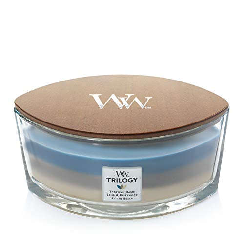 Woodwick Ellipse Trilogy Scented Candle with Crackling Wick, Nautical Escap
