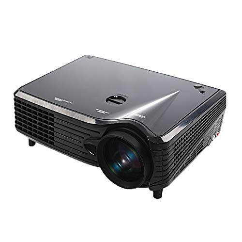 CHANYO Beweglicher Projektor, Einstellbarer Abstand VS-508 Mini-Projektor 2000ANSI LM LED 800x480 VGA Multimedia Videoprojektor, Unterstützungs-VGA/HDMI/USB/TV-Schnittstellen, projektierenabstan