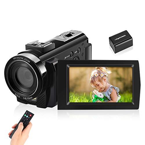 IEBRT Video Camera Camcorder, Digital YouTube Vlogging Camera Recorder Full HD 1080P...