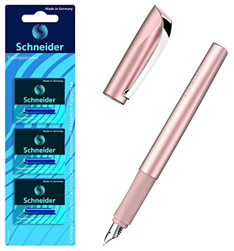 Schneider Ceod Shiny Füller (Rechts- und Linkshänder, M-Feder (Powder pink + 18 Patronen)