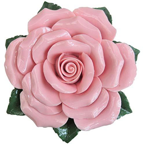 Rose - rosa - Keramikblume - Dekorose – Porzellanblüte – Einzelrose - Geschenk - Gartendeko - Tischdeko –- Grabschmuck - Grabdeko – Grabblumen - Trauerschmuck – Wetterfest