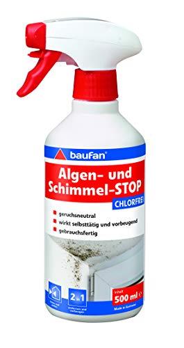 Baufan Algen- und Schimmel-Stop, für Innenflächen, chlorfrei, 500 ml