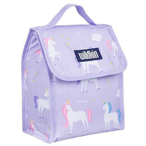 Wildkin Kids Insulated Lunch Bag for Boys and Girls, Lunch Bags is Ideal Size for Packing Hot or Cold Snacks for School and Travel, Mom's Choice Award Winner, BPA-Free, Olive Kids (Unicorn)