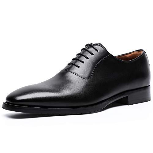 [フォクスセンス] ビジネスシューズ 本革 革靴 紳士靴 メンズ ドレスシューズ 本革 プレーントゥ 内羽根 ブラック 25.5cm DS8710-21