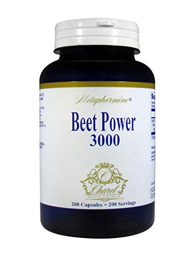 Metaphormine Super Beet Root Powder 3000mg Capsules - Supports Healthy Blood Pressure - Best High Fiber Supplement Capsules - 200 Beet Root Capsules (200 Day Supply)