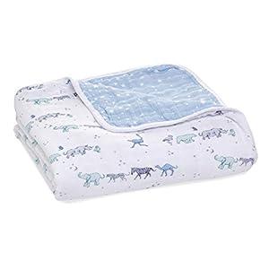 aden + anais Dream Blanket, Boutique Muslin Baby Blankets for Girls & Boys, Ideal Newborn Nursery & Crib Blanket, Unisex Toddler & Infant Bedding, Shower & Registry Gift, Rising Star