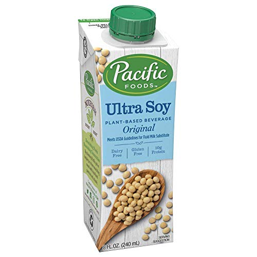Pacific Foods Ultra Soy Plant-Based Beverage, 8oz, 24-pack