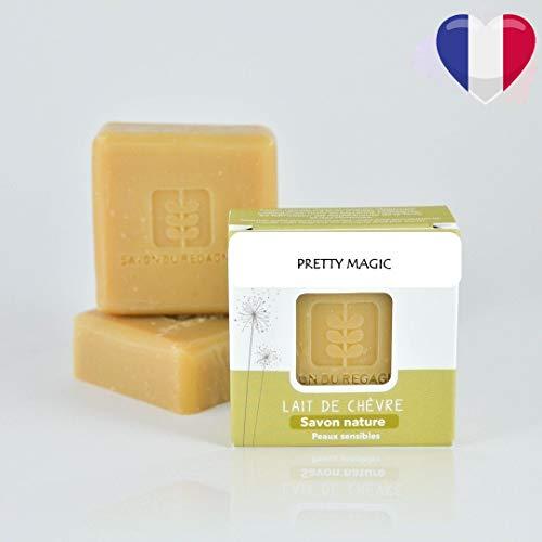 Savon nature au lait de chèvre bio fabriqué à la main en Provence 0% additif chimique 0% huile de palme pour peaux sensible et intolérante