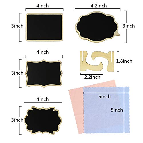 """40 Pack 4""""x3"""",Mini Chalkboard Signs with Stand,Stand Wooden Blackboard for Buffet Food Signs, Wedding Signs,Message Board Signs,Place Cards or Event Decoration Photo #4"""