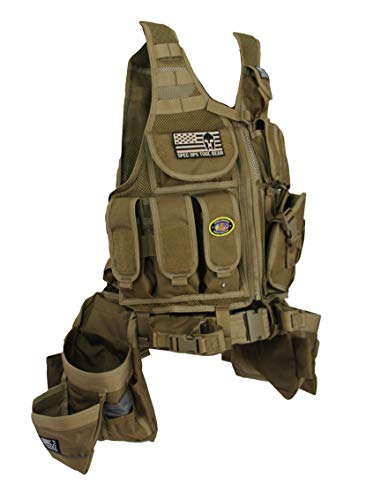 Special Operations Tool Gear SF-18 DELTA (The Medic) Tactical Tool Vest (Coyote Tan with Extended Belt)