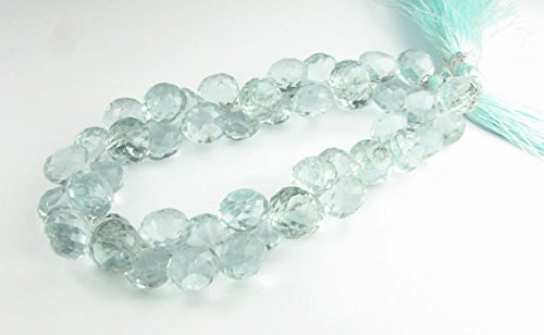 Beads Gemstone Glass Green Quartz Faceted Chubby Onion Candy Kiss Gemstone Briolettes Beads 8mm (10 gems) Code-HIGH-69519