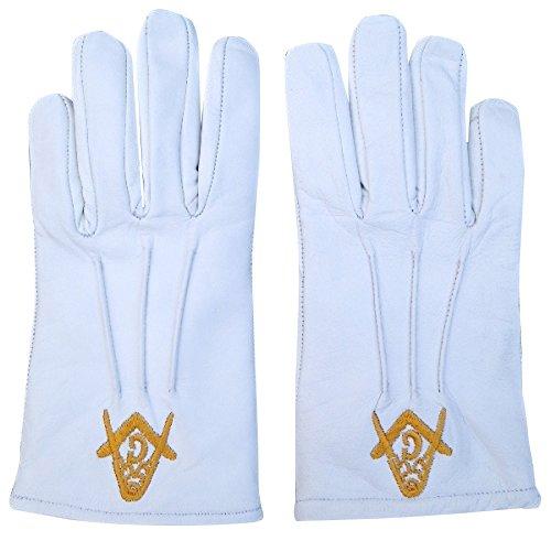 Harrington Marley Freimaurer-Handschuhe, Nappa-Leder, Weich, Weiß, für die Hochzeit