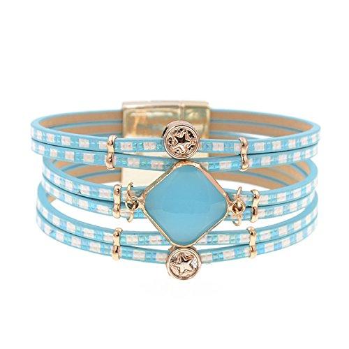 Ty-BLACK1 Fashion glas Boheemse armbanden armbanden sieraden zoals pic 19cm