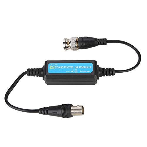 ASHATA BNC Video Masseschleifen Isolator, Camera Coaxial BNC Video Balun Ground Loop Isolator,BNC-Stecker auf Buchse Koaxial Balun Mantelstromfilter HD-TVI/CVI/AHD Isolator für Kamera