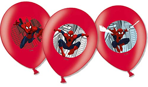 Generique - 6 Spiderman Luftballons