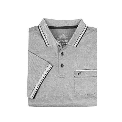 Daniel Hechter Herren-Poloshirt, grau, Gr.XXL - (75010 181901 990 GR. XXL)