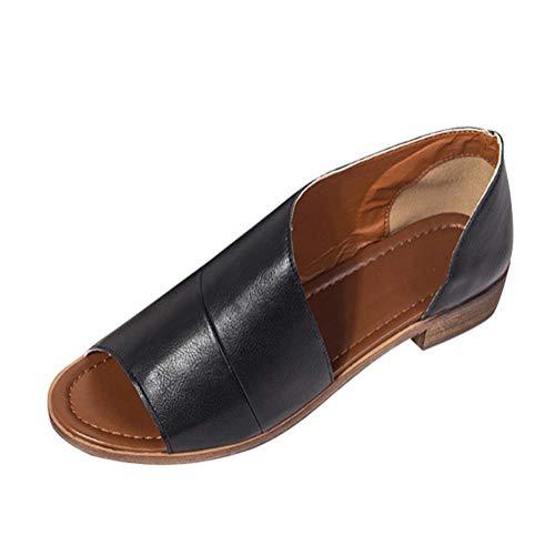 Tomwell Bottine Femmes Sandales Plates Boots Femme Cuir...