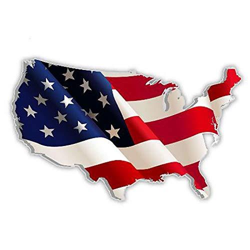 Pegatinas para coche con bandera de Estados Unidos, para coche, camión, barco, portátil, coche, coche, coche, coche, pegatinas, para bicicletas (color 1)