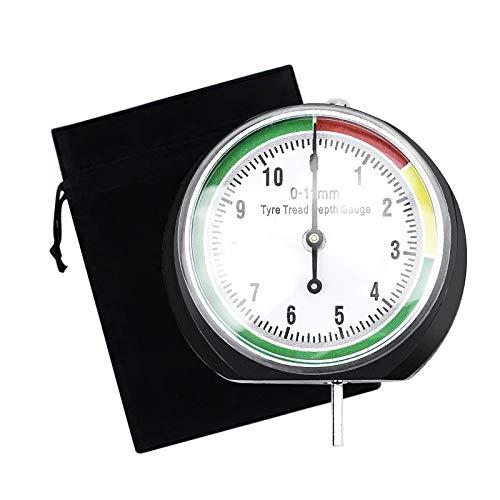 Medidor Profundidad Neumaticos, Medidor de Dibujo de Neumáticos para Medir la Profundidad de Los Neumáticos - 0 a 11 mm